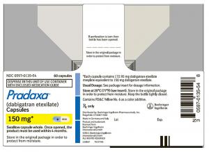 Pradaxa 150mg label image