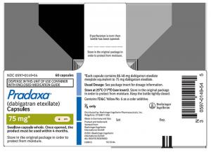 Pradaxa 75mg label image